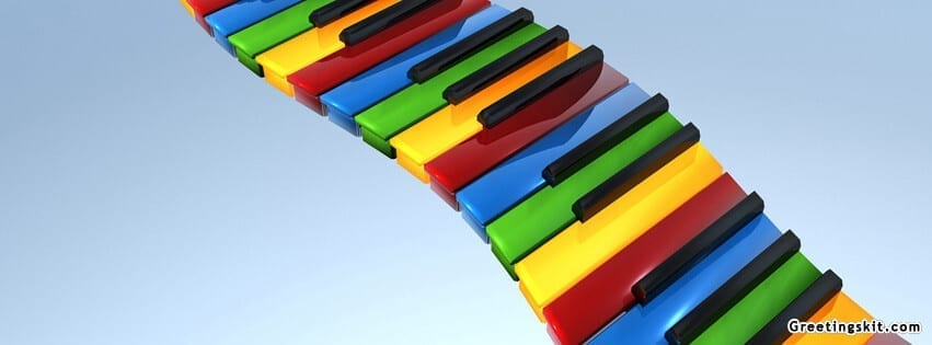 3D Piano Keyboard FB Cover