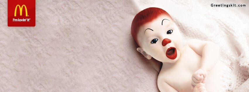 Baby Ronald – Mcdonald's – FB Timeline Cover