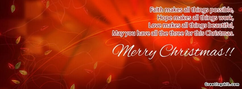 Beautiful Merry Christmas Facebook Timeline Profile Cover ...