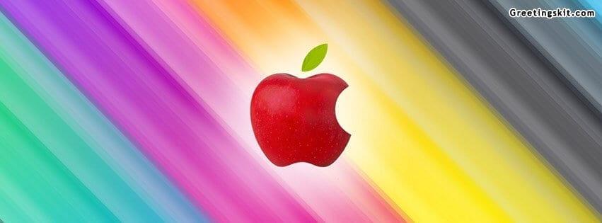 Apple Rainbow Facebook Cover