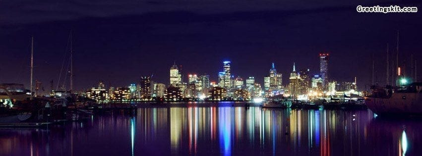 Melbourne Night View FB Cover