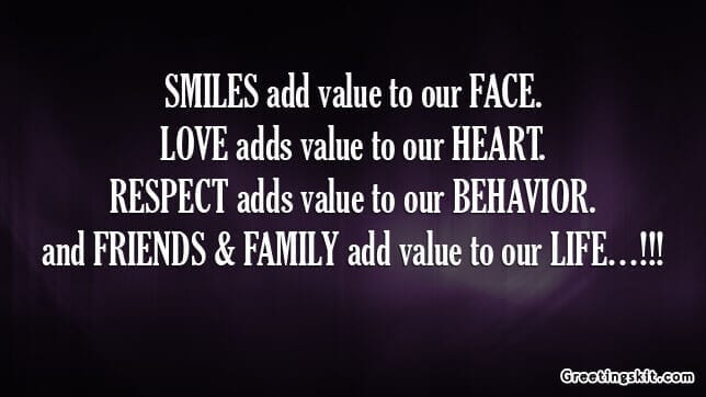 friends and family picture quote