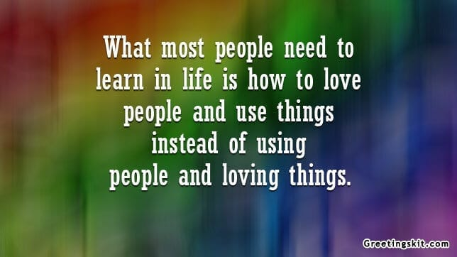 How To Love People Picture Quote