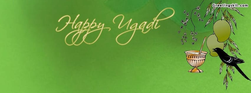 `Happy Ugadi Facebook Timeline Cover