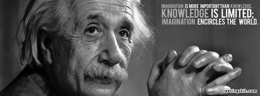 Albert Einstein Knowledge Facebook Cover