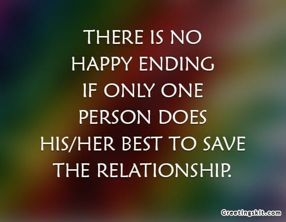 No Happy Ending – Picture Quote